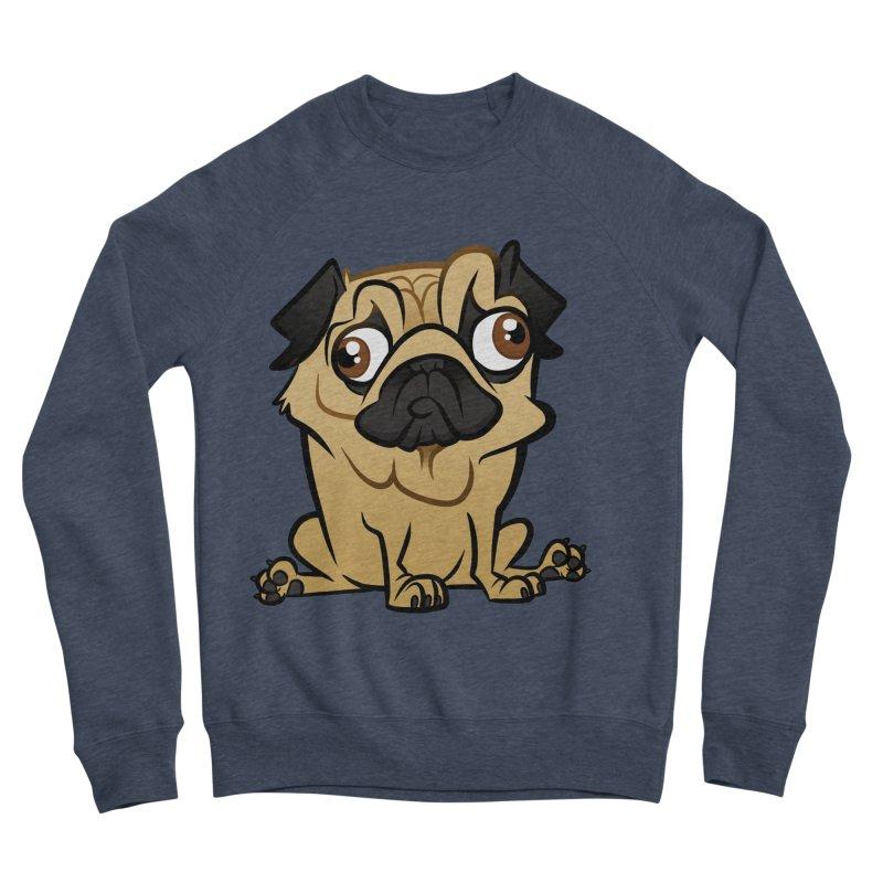 Pug Men's Sponge Fleece Sweatshirt by binarygod's Artist Shop