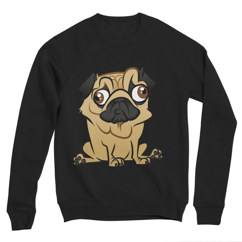 Pug Women's Sponge Fleece Sweatshirt by binarygod's Artist Shop