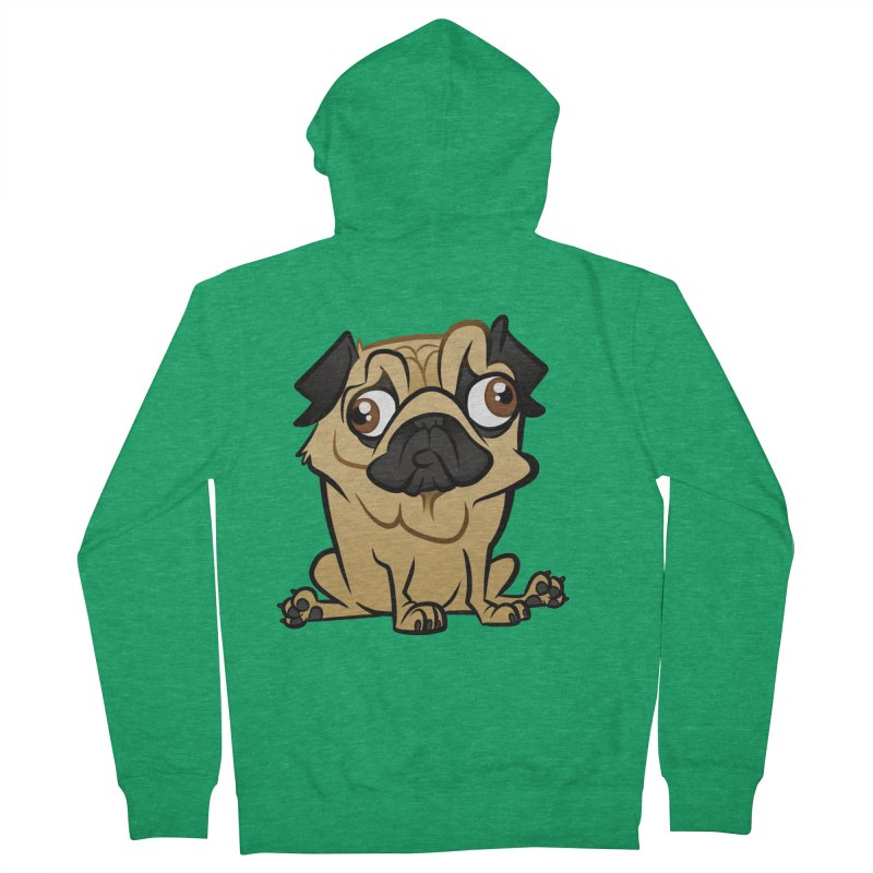 Pug Women's Zip-Up Hoody by binarygod's Artist Shop