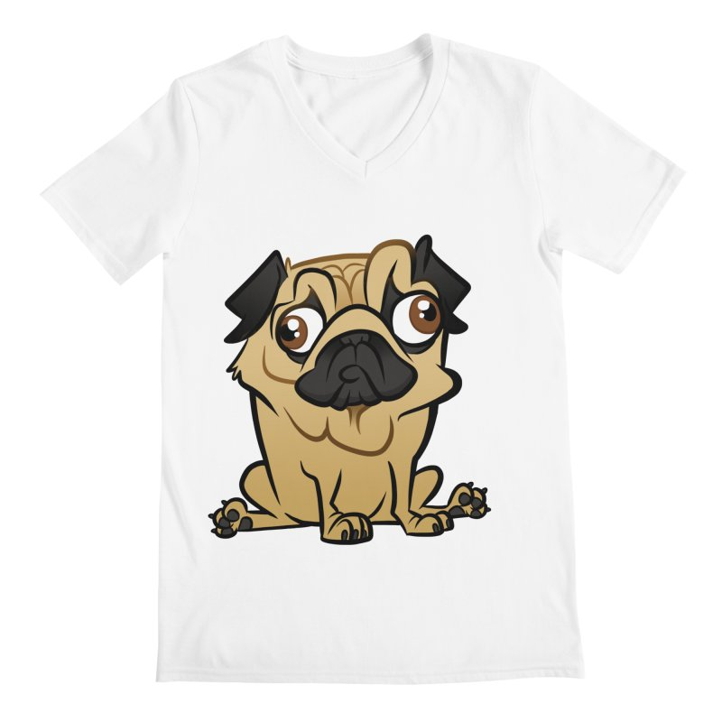 Pug Men's V-Neck by binarygod's Artist Shop