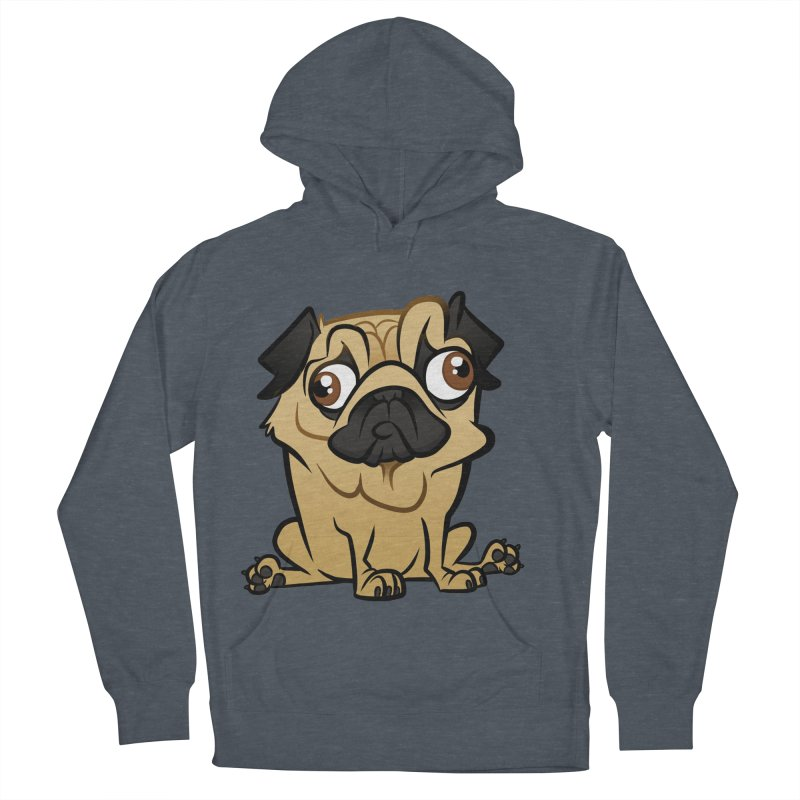 Pug Men's French Terry Pullover Hoody by binarygod's Artist Shop