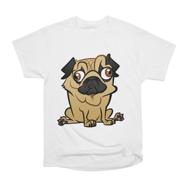 Pug Men's Heavyweight T-Shirt by binarygod's Artist Shop