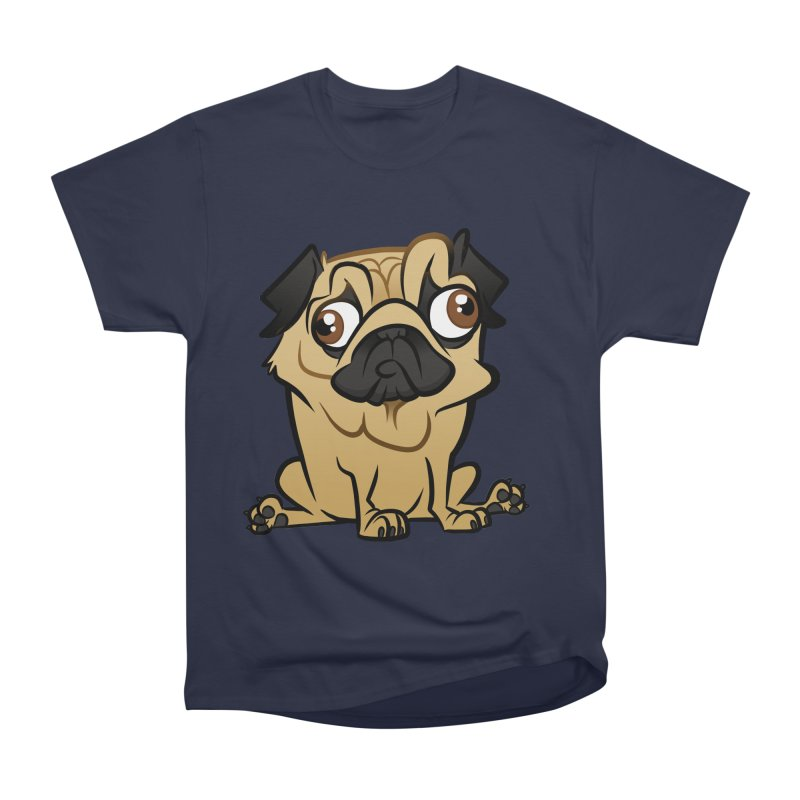 Pug Men's Heavyweight T-Shirt by binarygod's Artist Shop