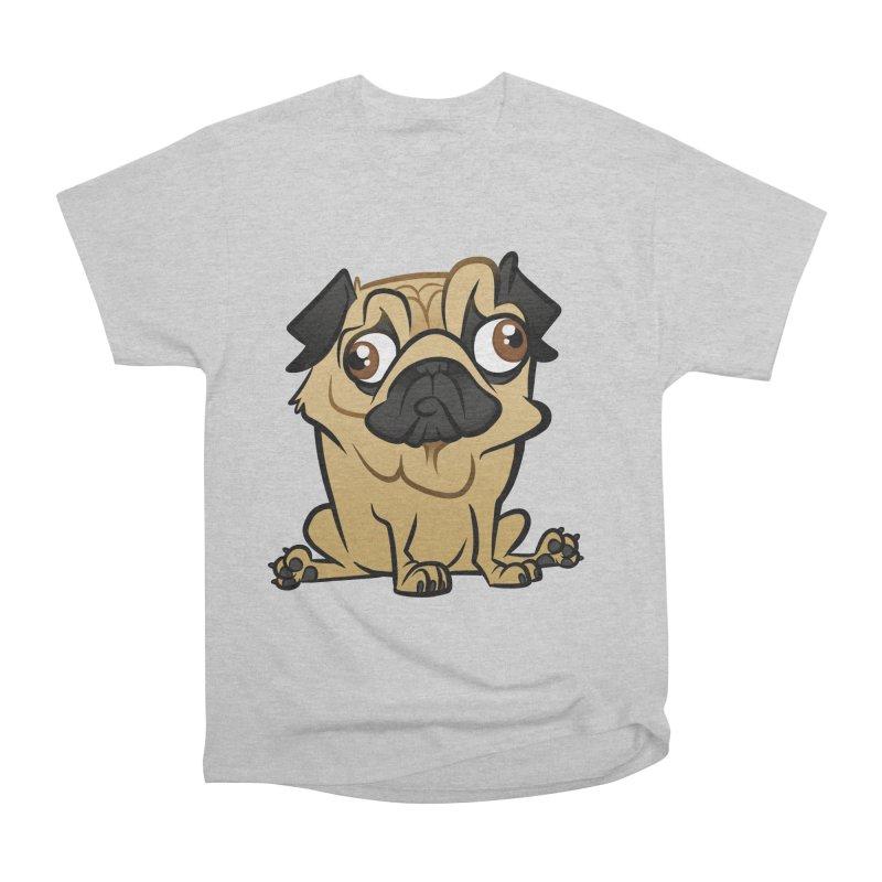 Pug Women's Heavyweight Unisex T-Shirt by binarygod's Artist Shop