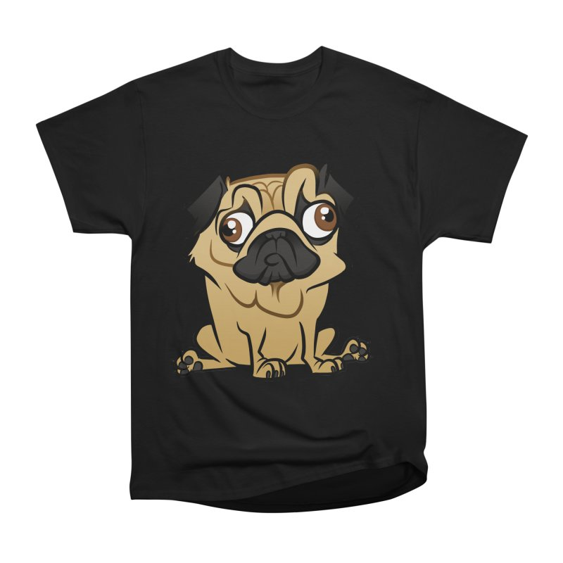 Pug Women's Heavyweight Unisex T-Shirt by binarygod's Artist Shop