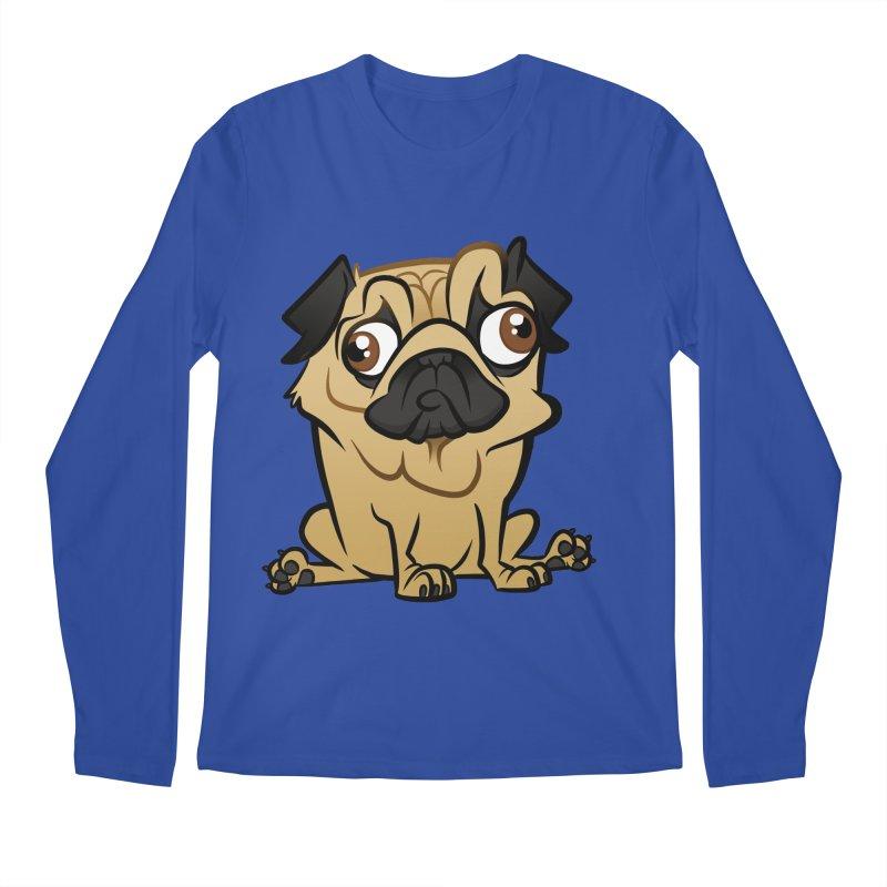 Pug Men's Regular Longsleeve T-Shirt by binarygod's Artist Shop
