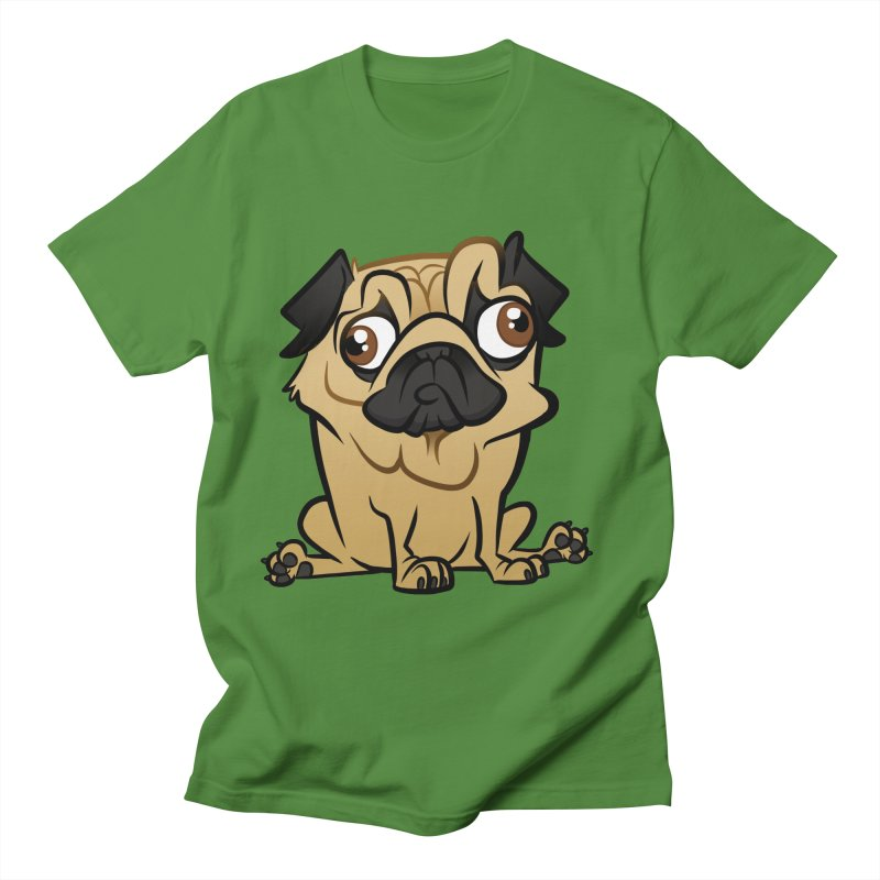 Pug Women's Regular Unisex T-Shirt by binarygod's Artist Shop