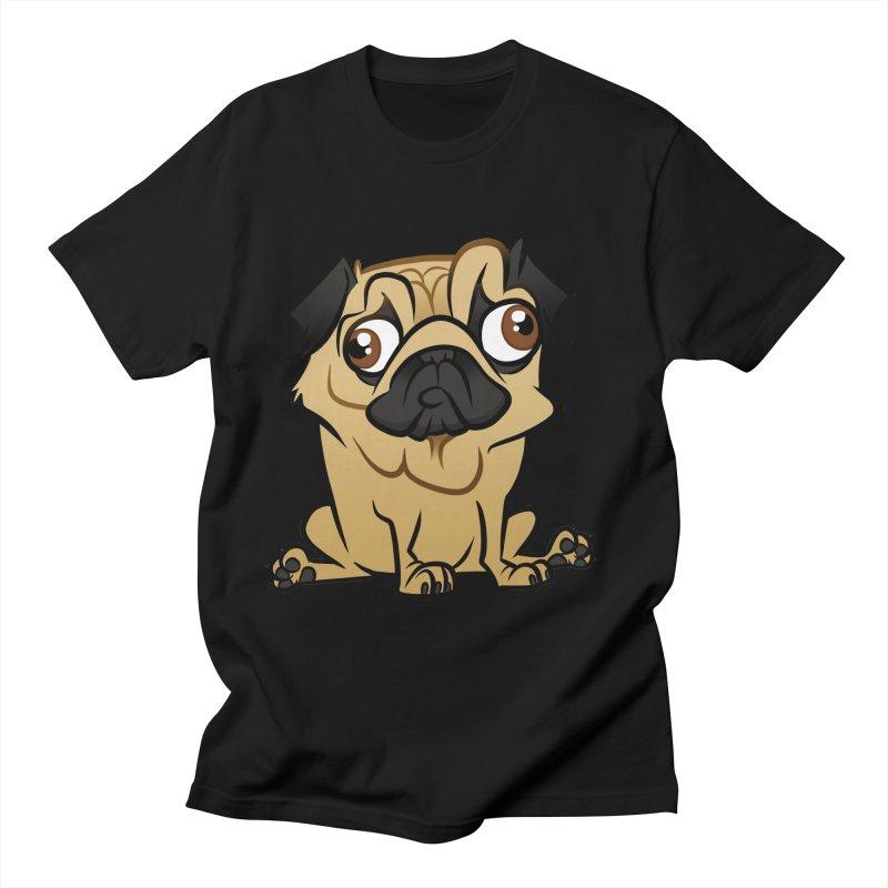 Pug Men's Regular T-Shirt by binarygod's Artist Shop