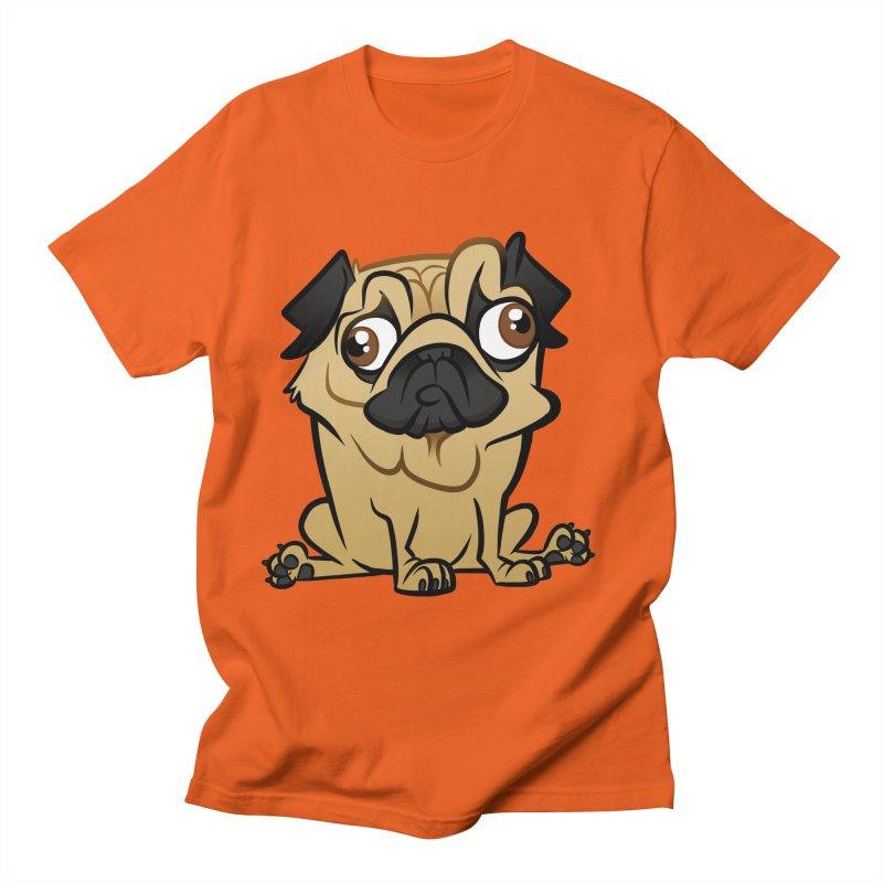 Pug Women's Regular Unisex T-Shirt by binarygod's Artist Shop