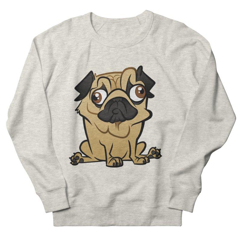 Pug Women's French Terry Sweatshirt by binarygod's Artist Shop