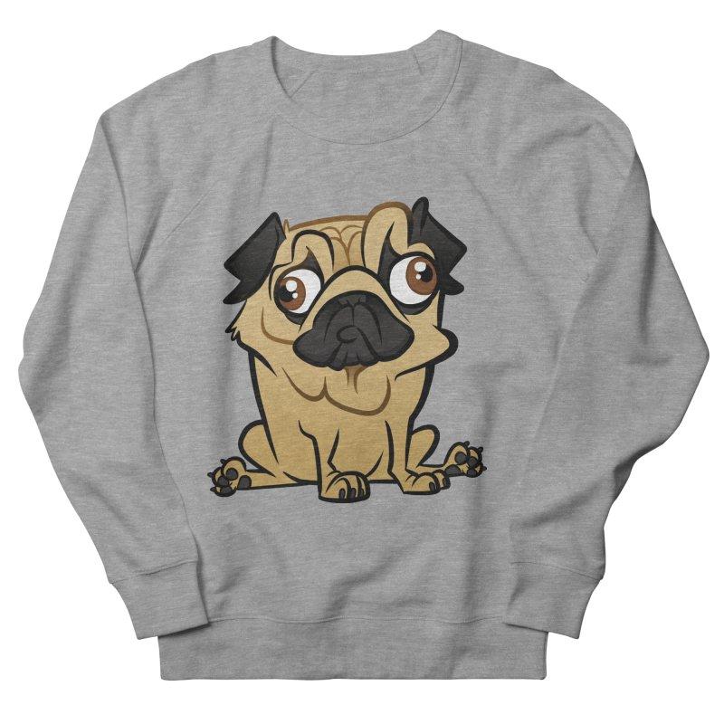 Pug Men's French Terry Sweatshirt by binarygod's Artist Shop