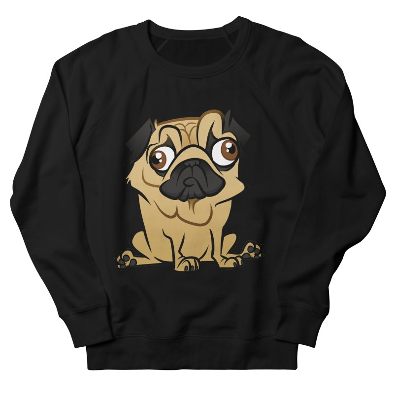 Pug Men's French Terry Sweatshirt by binarygod's Artist Shop