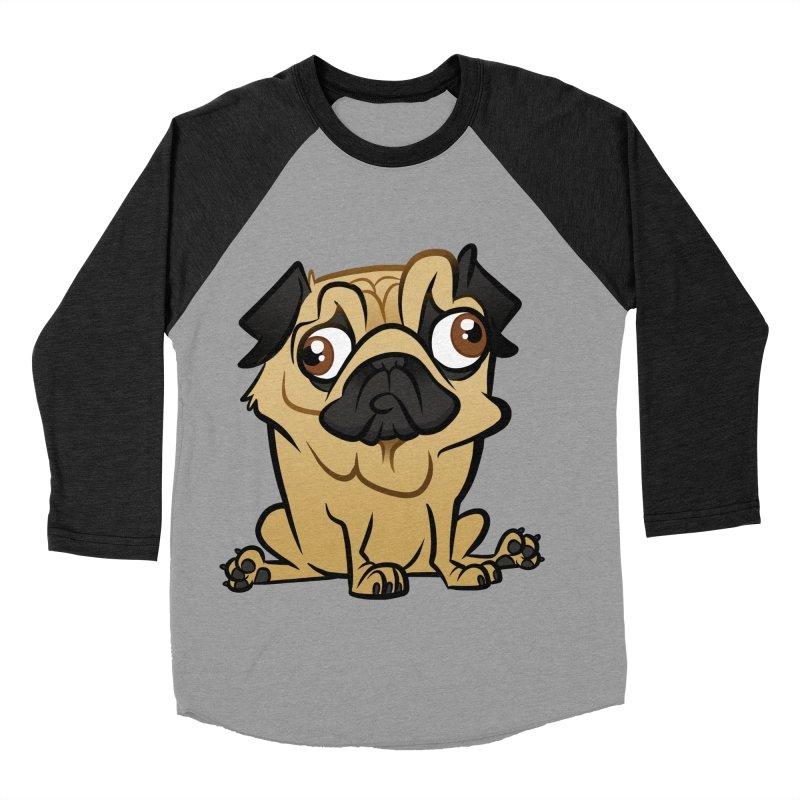 Pug Men's Baseball Triblend Longsleeve T-Shirt by binarygod's Artist Shop
