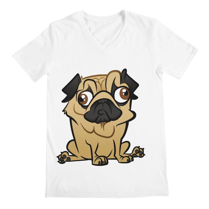 Pug Men's V-Neck by binarygod's Artist Shop