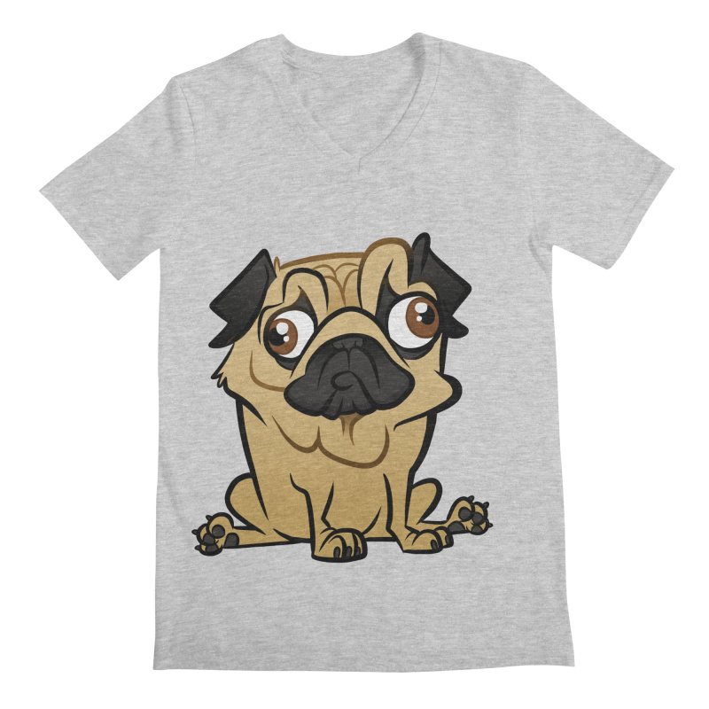 Pug Men's Regular V-Neck by binarygod's Artist Shop