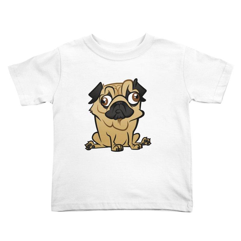 Pug Kids Toddler T-Shirt by binarygod's Artist Shop