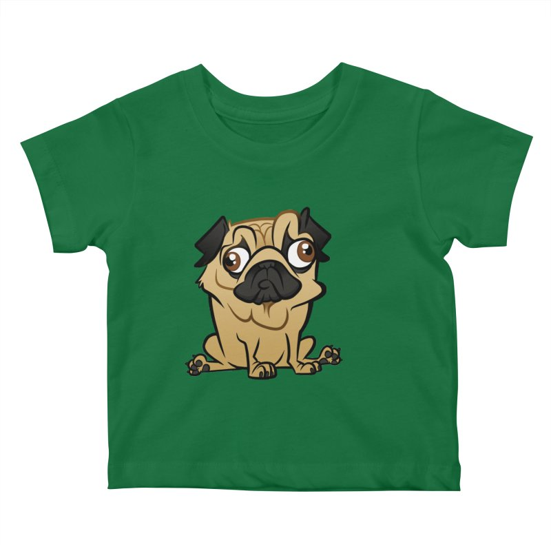 Pug Kids Baby T-Shirt by binarygod's Artist Shop