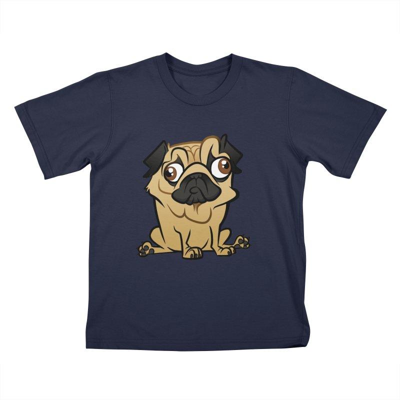 Pug Kids T-Shirt by binarygod's Artist Shop