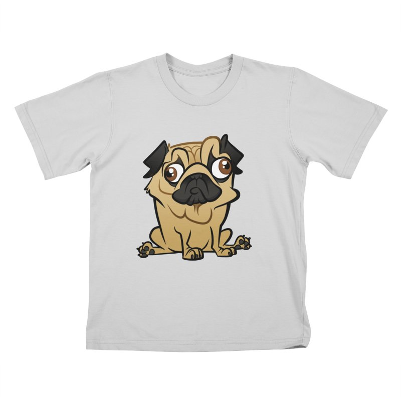 Pug Kids T-Shirt by binarygod's Artist Shop