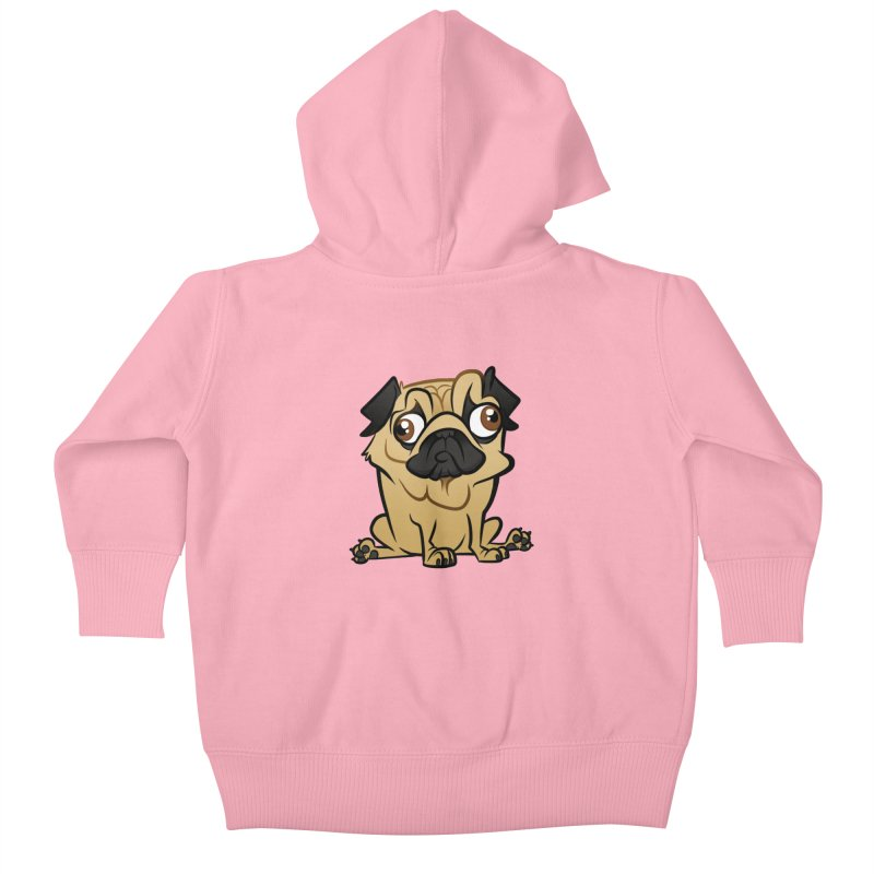 Pug Kids Baby Zip-Up Hoody by binarygod's Artist Shop
