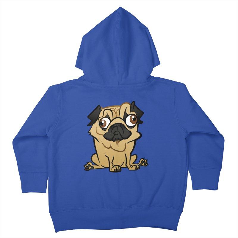 Pug Kids Toddler Zip-Up Hoody by binarygod's Artist Shop