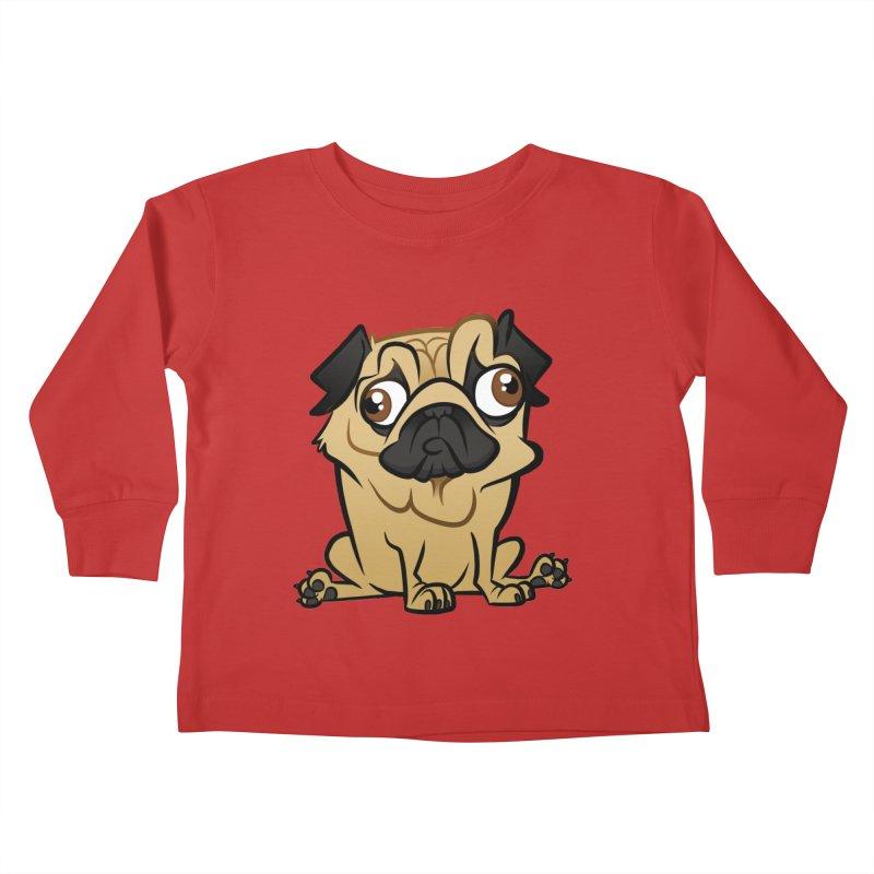 Pug Kids Toddler Longsleeve T-Shirt by binarygod's Artist Shop