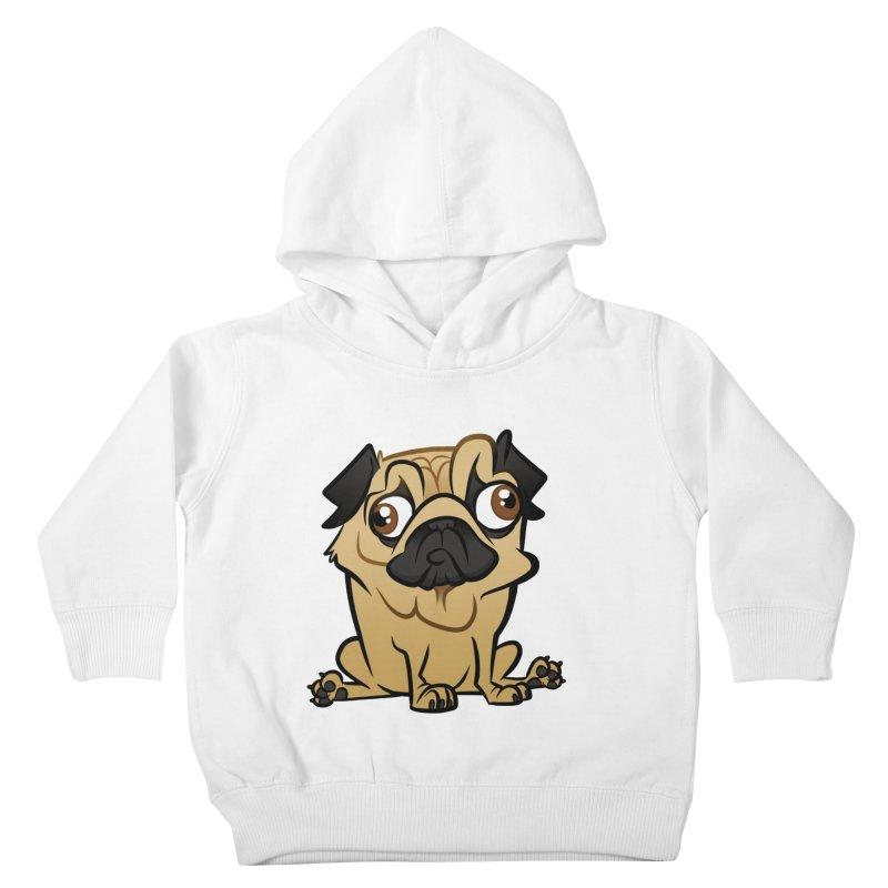 Pug Kids Toddler Pullover Hoody by binarygod's Artist Shop