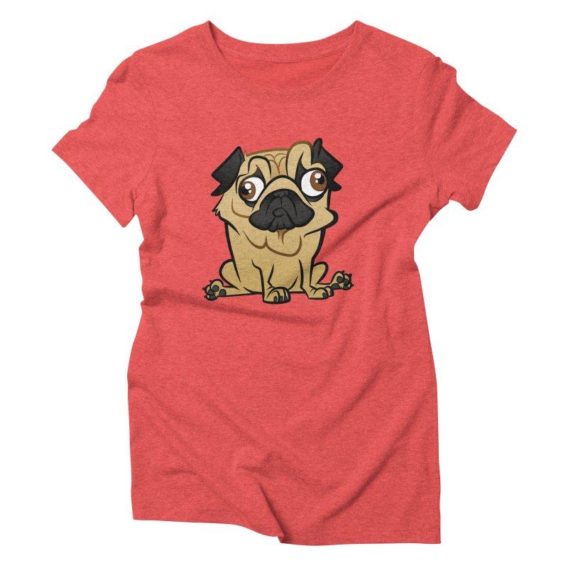 Pug Women's Triblend T-Shirt by binarygod's Artist Shop