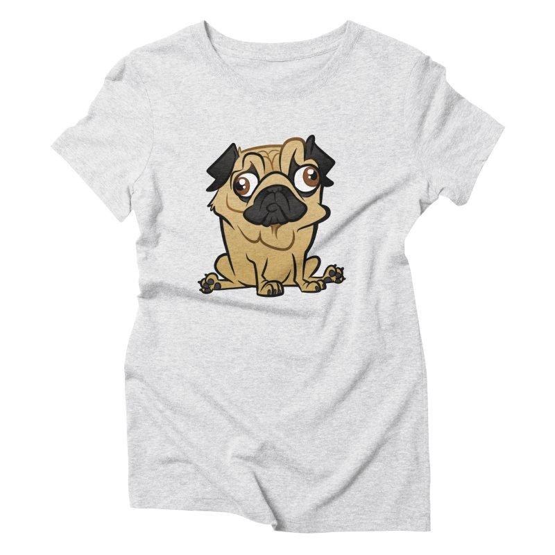 Pug Women's T-Shirt by binarygod's Artist Shop