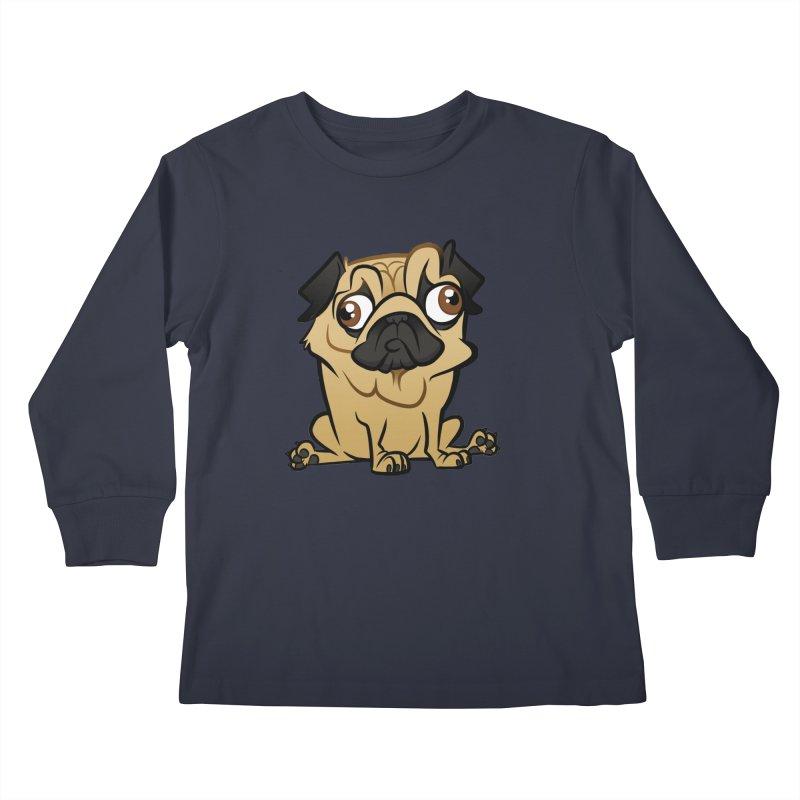 Pug Kids Longsleeve T-Shirt by binarygod's Artist Shop