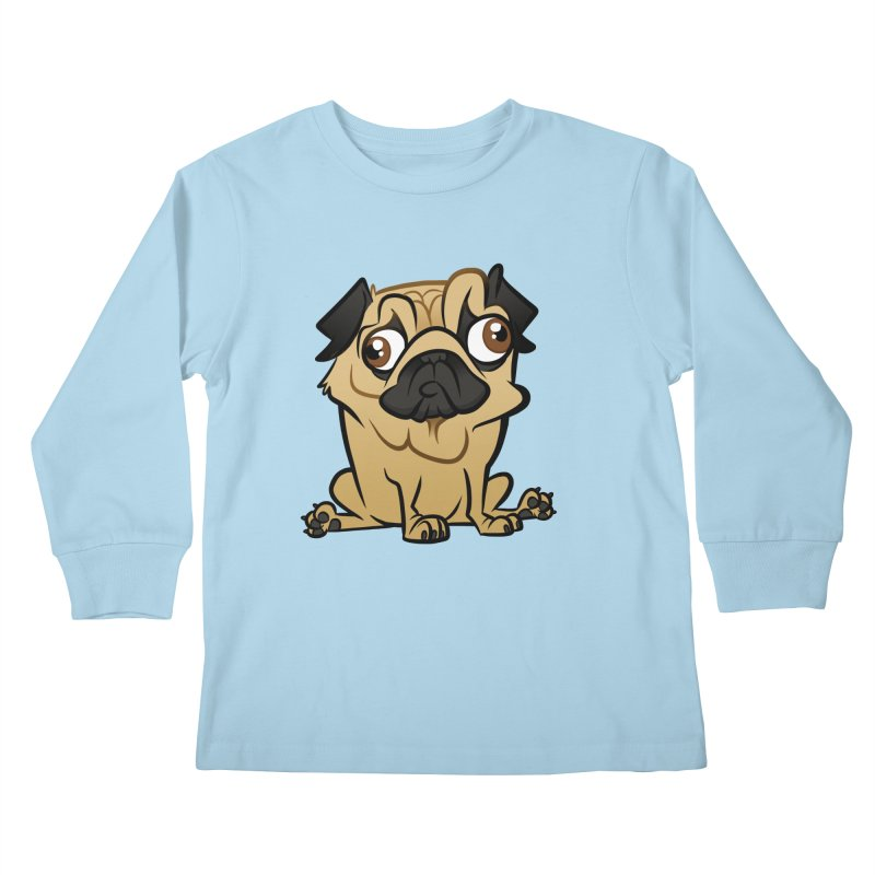 Pug Kids Longsleeve T-Shirt by binarygod's Artist Shop