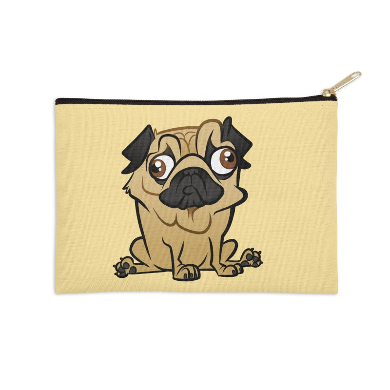 Pug Accessories Zip Pouch by binarygod's Artist Shop