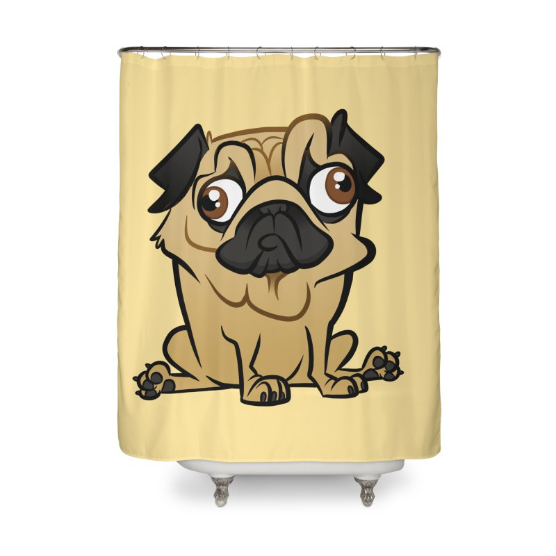 Pug Home Shower Curtain by binarygod's Artist Shop