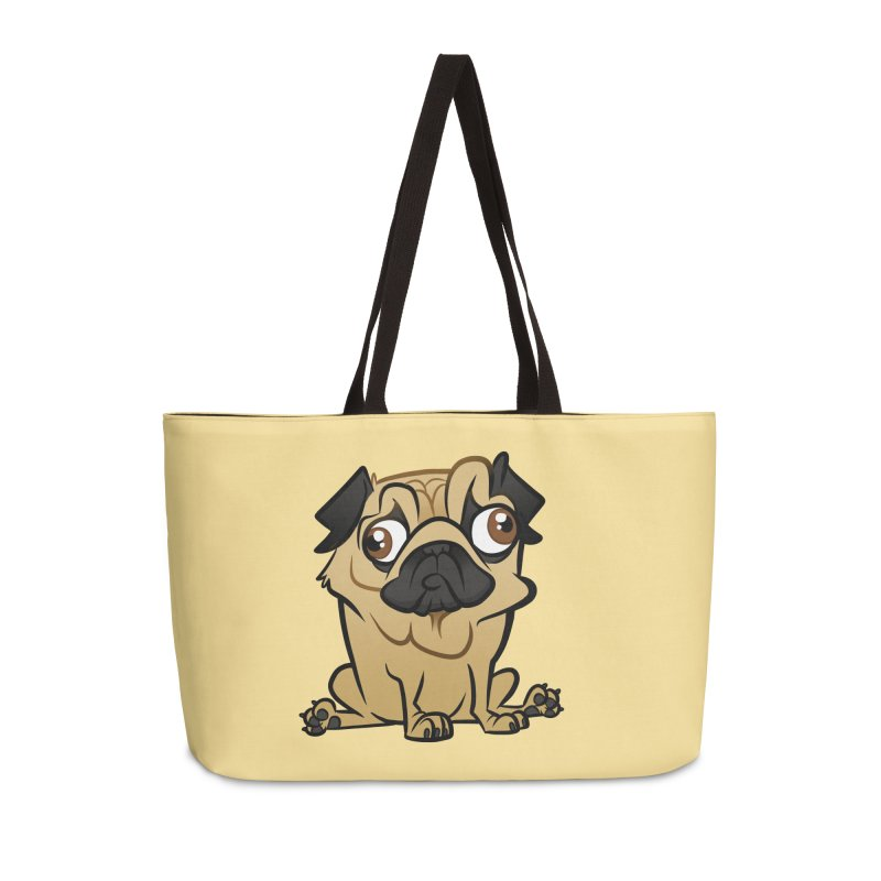 Pug Accessories Weekender Bag Bag by binarygod's Artist Shop