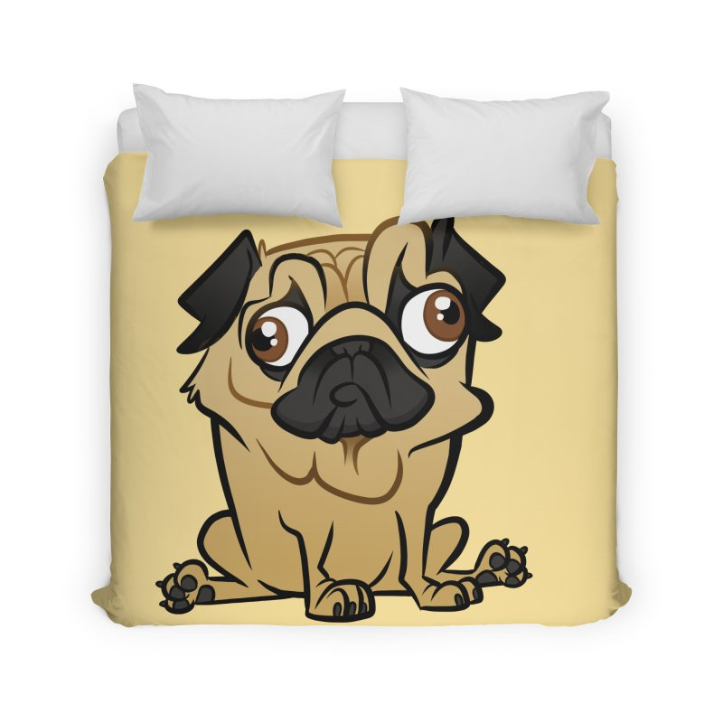 Pug Home Duvet by binarygod's Artist Shop