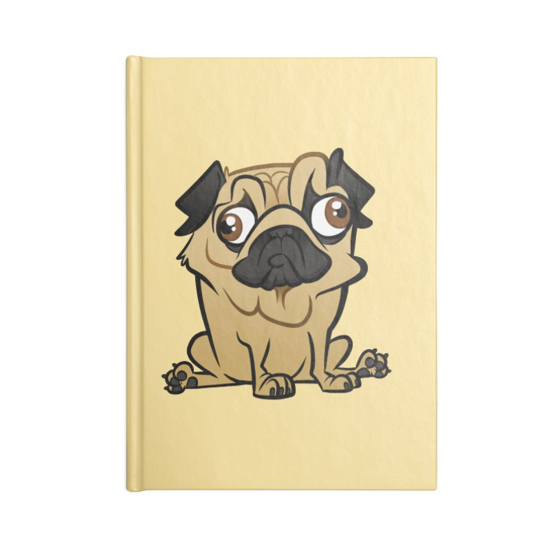 Pug Accessories Lined Journal Notebook by binarygod's Artist Shop