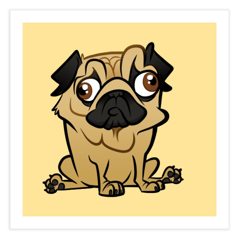Pug Home Fine Art Print by binarygod's Artist Shop