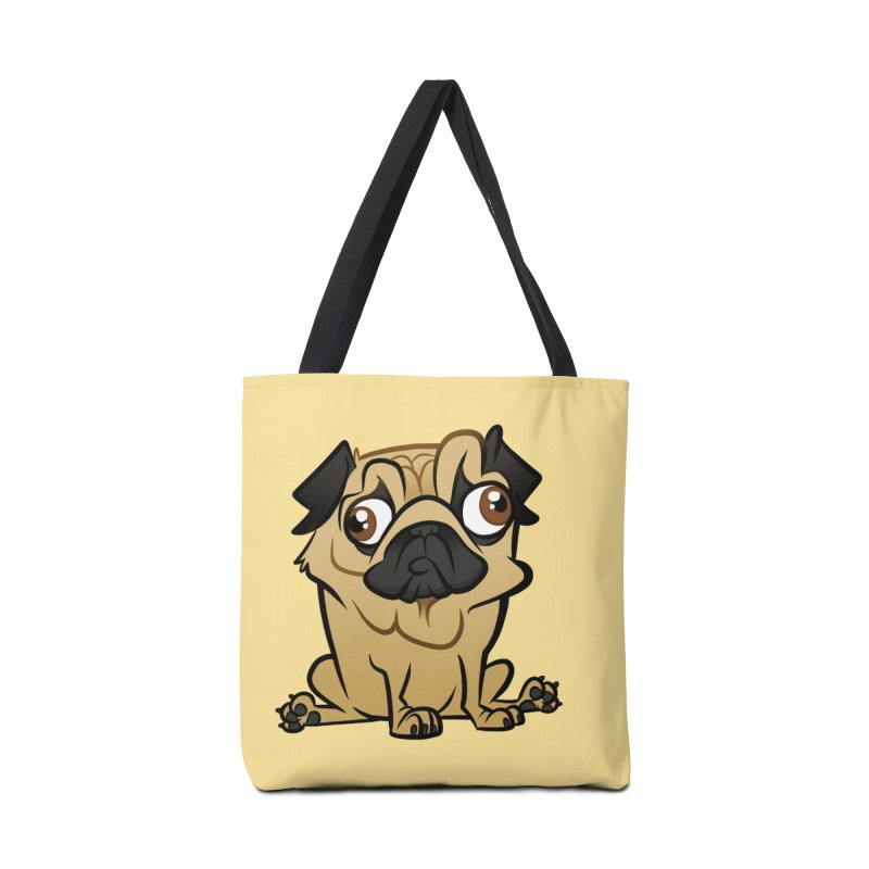 Pug Accessories Tote Bag Bag by binarygod's Artist Shop