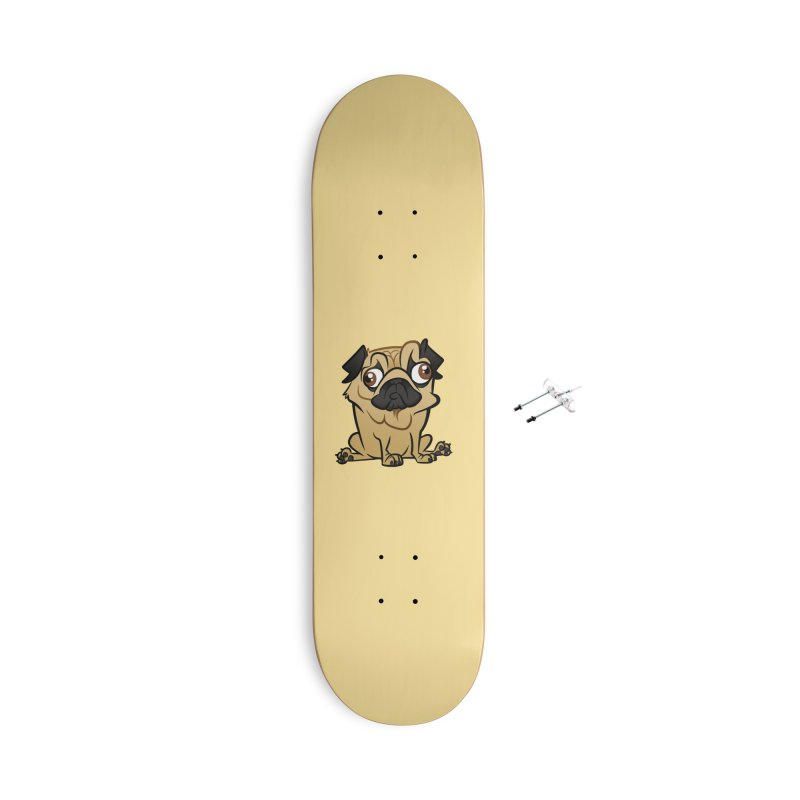 Pug Accessories With Hanging Hardware Skateboard by binarygod's Artist Shop