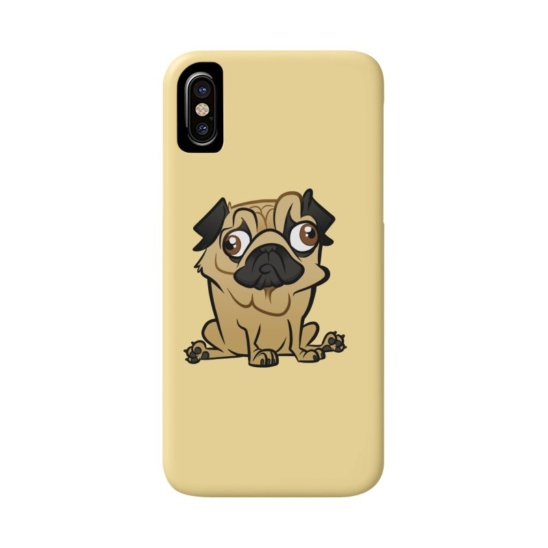 Pug Accessories Phone Case by binarygod's Artist Shop
