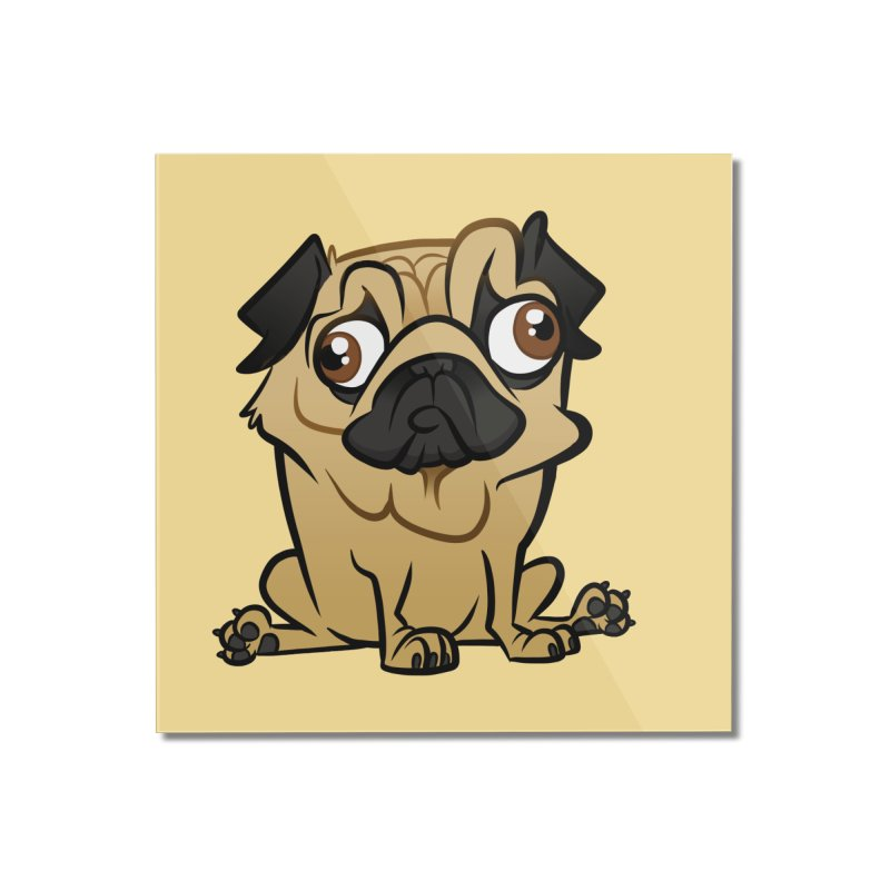 Pug Home Mounted Acrylic Print by binarygod's Artist Shop