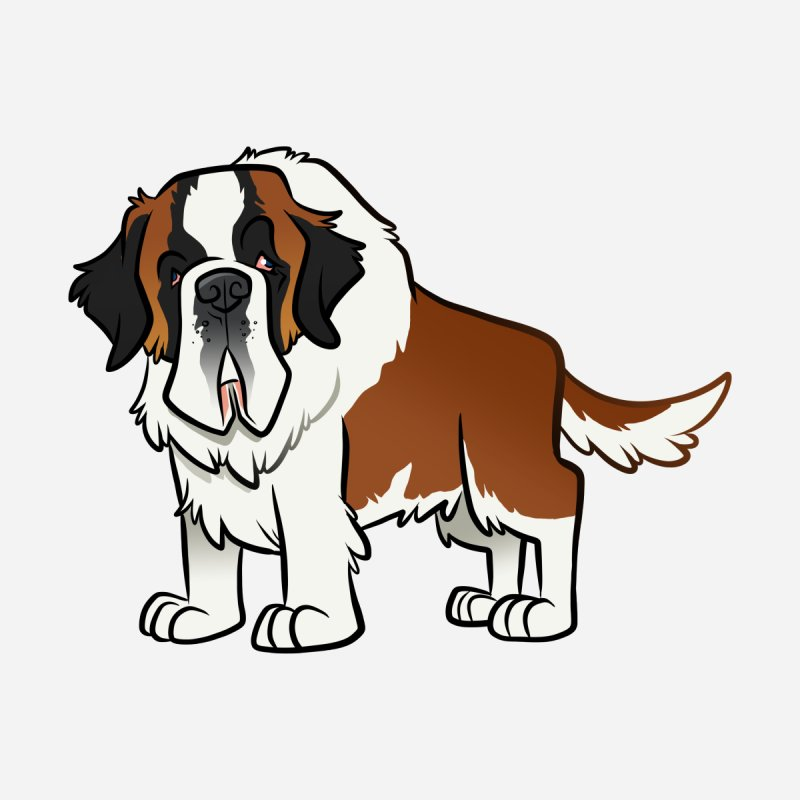 St. Bernard Accessories Sticker by binarygod's Artist Shop