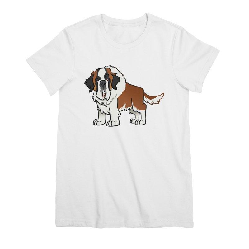 St. Bernard Women's Premium T-Shirt by binarygod's Artist Shop
