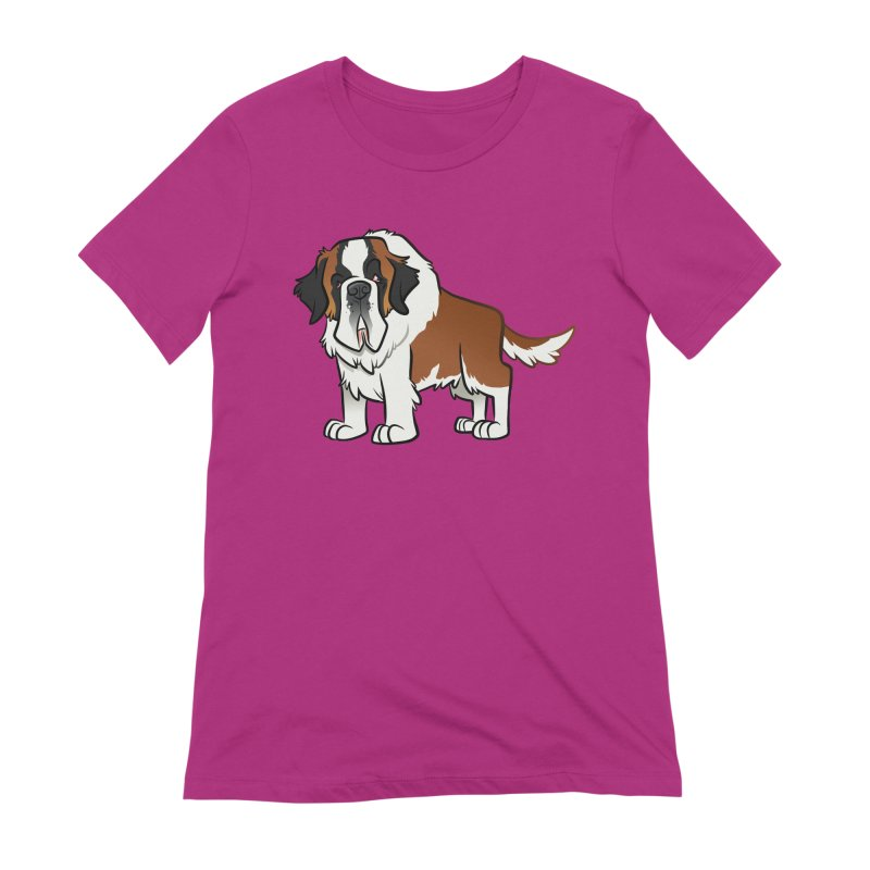 St. Bernard Women's Extra Soft T-Shirt by binarygod's Artist Shop