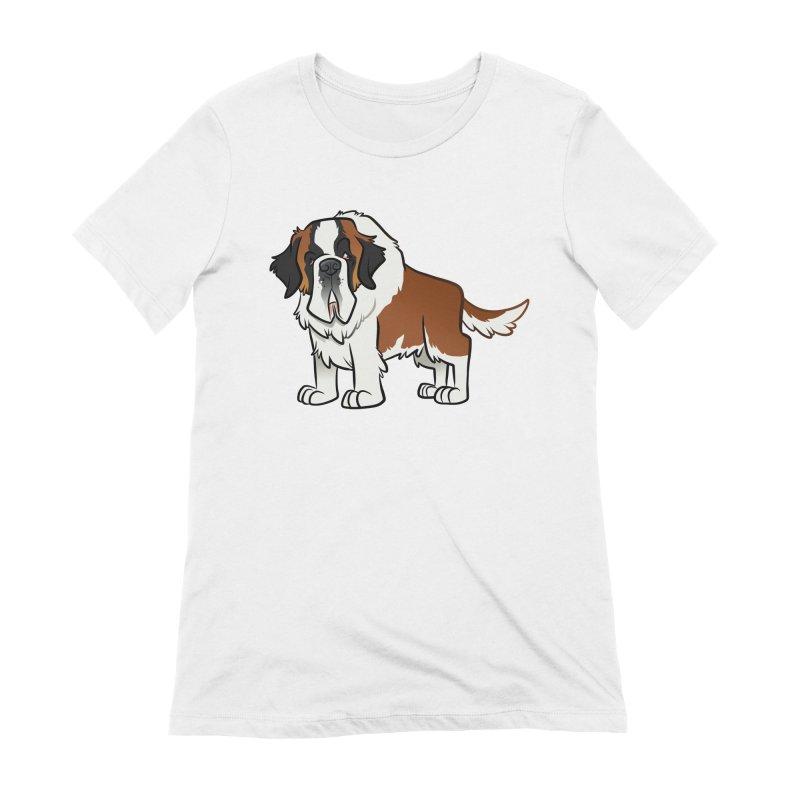 St. Bernard Women's Extra Soft T-Shirt by binarygod's Artist Shop