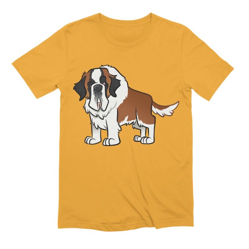 St. Bernard Men's Extra Soft T-Shirt by binarygod's Artist Shop
