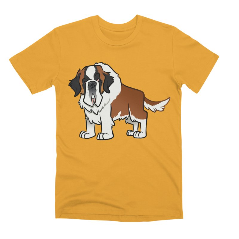 St. Bernard Men's Premium T-Shirt by binarygod's Artist Shop