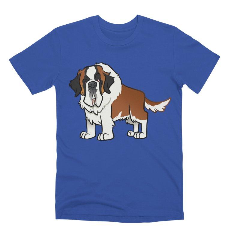St. Bernard Men's Premium T-Shirt by binarygod's Artist Shop