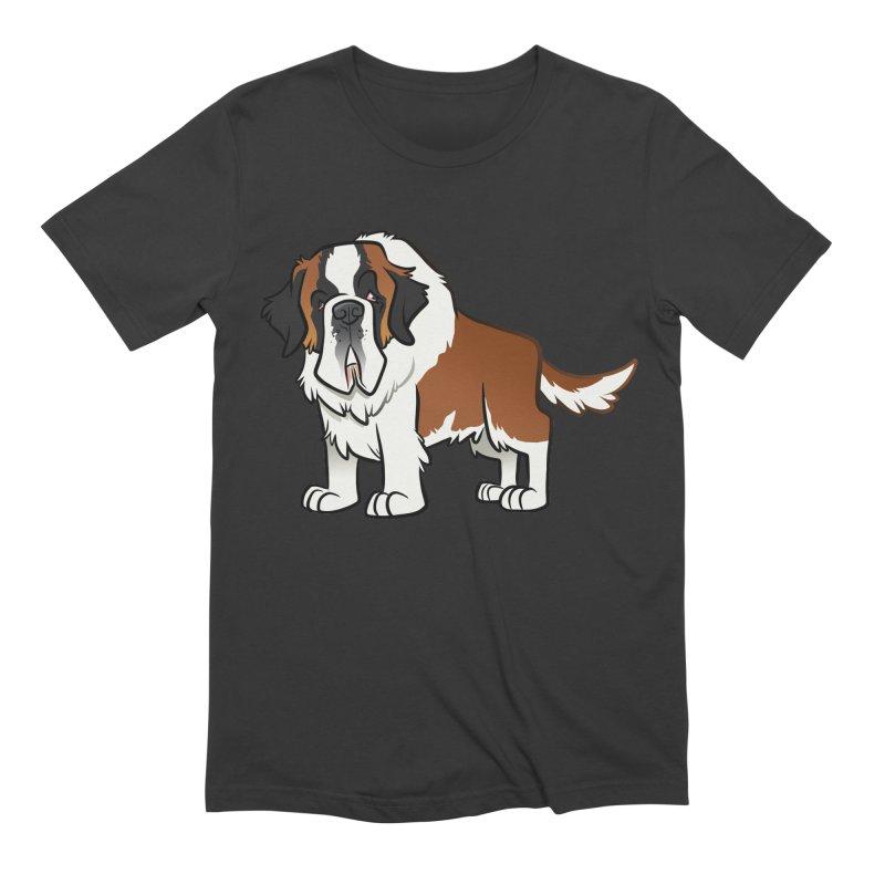 St. Bernard Men's Extra Soft T-Shirt by binarygod's Artist Shop