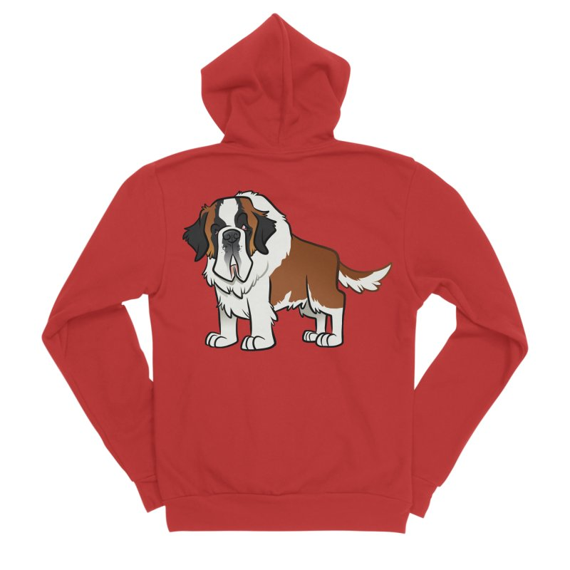 St. Bernard Women's Zip-Up Hoody by binarygod's Artist Shop
